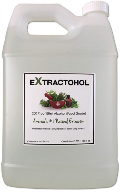 Extractohol 200 Proof USP Food Grade Ethyl Alcohol - One Gallon  (+ 8 oz extra- Free, added to Gallon!)